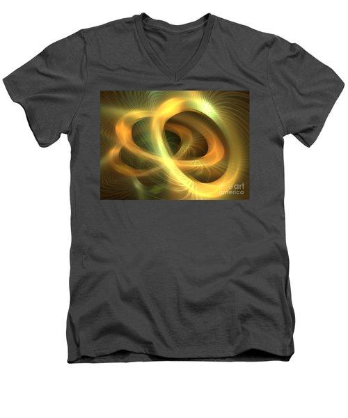Golden Rings Men's V-Neck T-Shirt by Kim Sy Ok