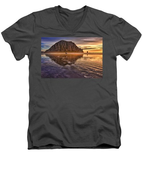 Golden Sunset Men's V-Neck T-Shirt