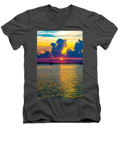 Golden Waters Men's V-Neck T-Shirt by Shannon Harrington