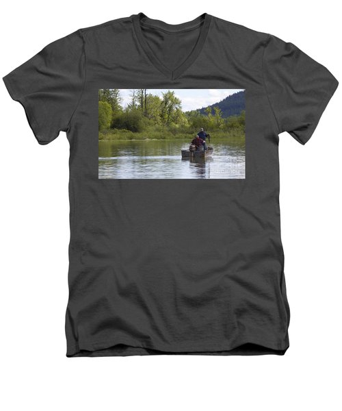 Men's V-Neck T-Shirt featuring the photograph Gotcha by Nina Prommer
