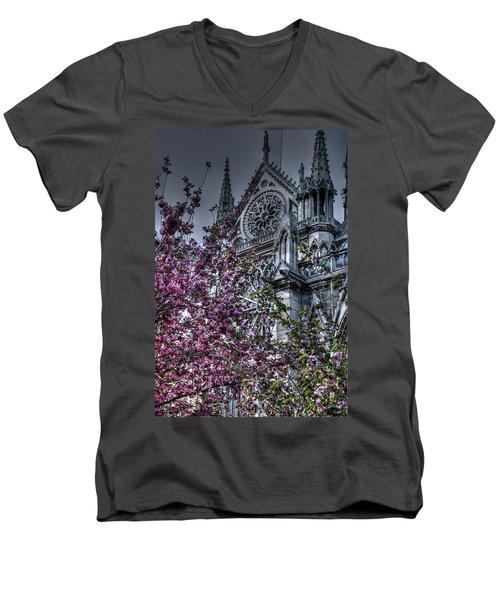 Gothic Paris Men's V-Neck T-Shirt