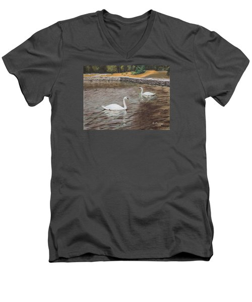 Graceful Swimmers Men's V-Neck T-Shirt