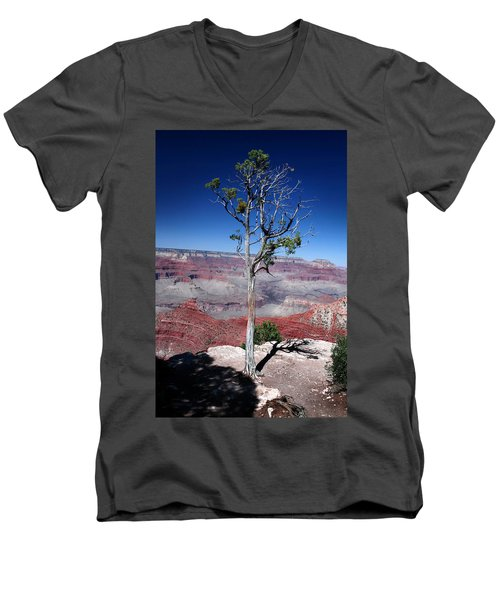 Men's V-Neck T-Shirt featuring the photograph Grand Canyon Number Two by Lon Casler Bixby