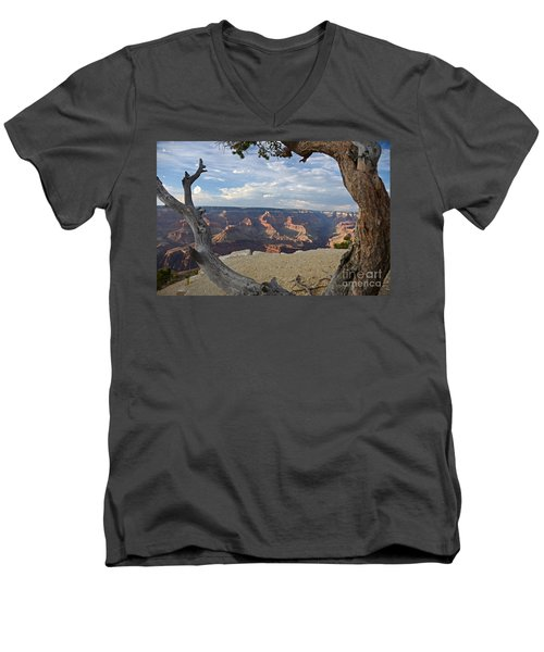 Grand Canyon Tree Men's V-Neck T-Shirt