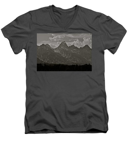 Men's V-Neck T-Shirt featuring the photograph Grand Tetons by Eric Tressler