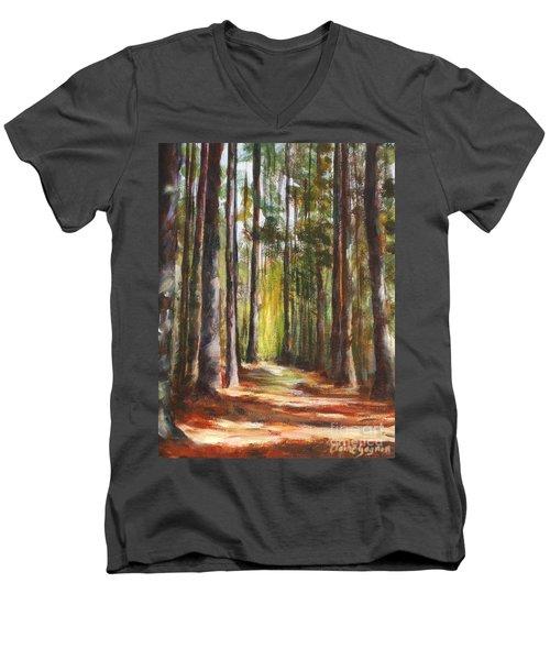 Great Brook Farm Summer Path Men's V-Neck T-Shirt