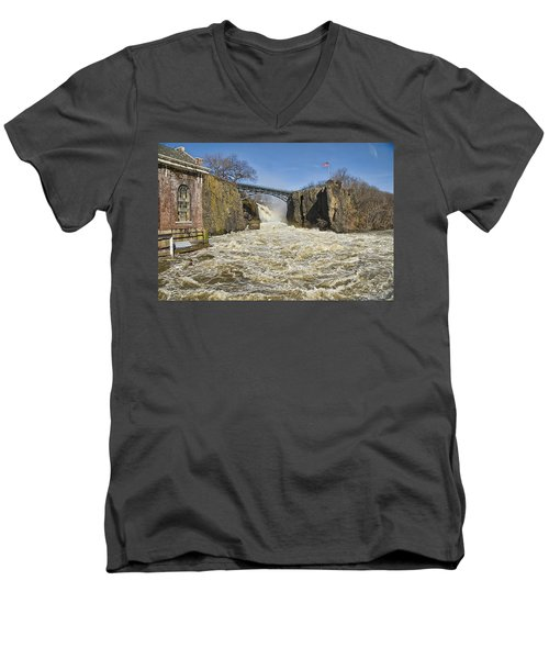 Great Falls Of Paterson    Men's V-Neck T-Shirt