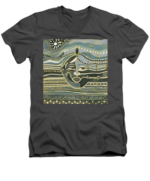 Green Maya Men's V-Neck T-Shirt