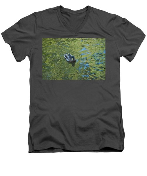 Men's V-Neck T-Shirt featuring the photograph Green Pool by Joseph Yarbrough