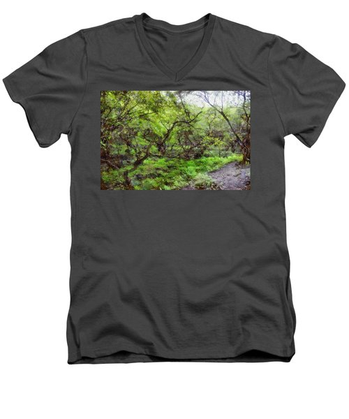 Greenery Men's V-Neck T-Shirt