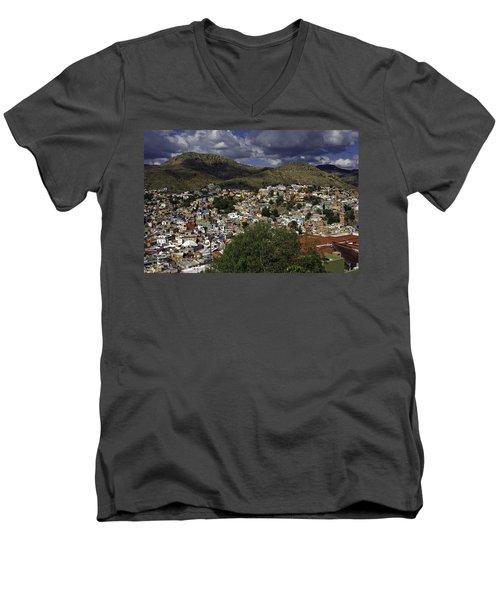 Guanajuato Vista No. 1 Men's V-Neck T-Shirt by Lynn Palmer