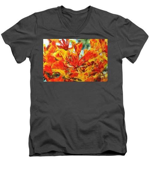 Gulmohar Men's V-Neck T-Shirt