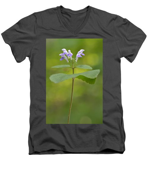 Men's V-Neck T-Shirt featuring the photograph Hairy Skullcap II by JD Grimes