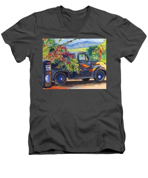 Hanapepe Truck Men's V-Neck T-Shirt by Marionette Taboniar