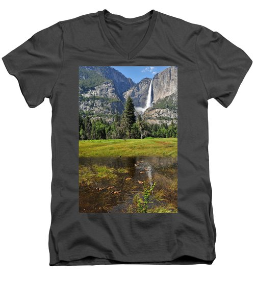 Men's V-Neck T-Shirt featuring the photograph Happy Campers by Lynn Bauer