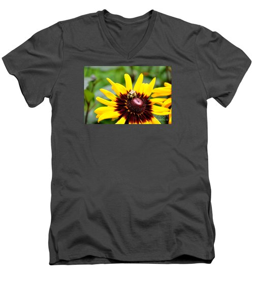 Men's V-Neck T-Shirt featuring the photograph Happy Rudbeckia by Tanya  Searcy