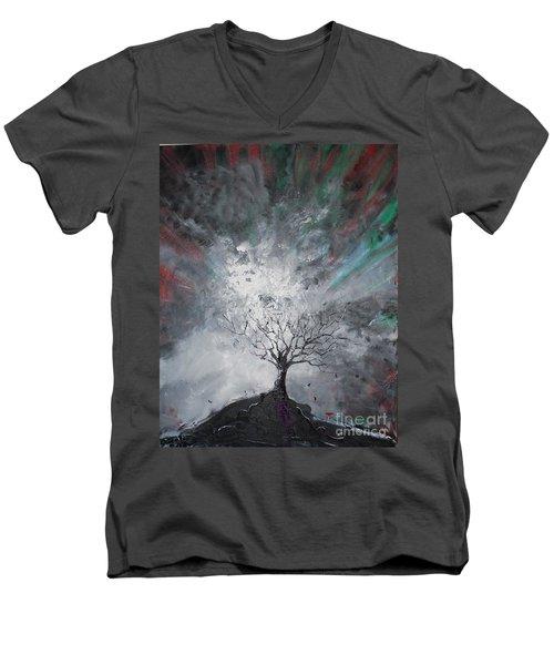Haunted Tree Men's V-Neck T-Shirt