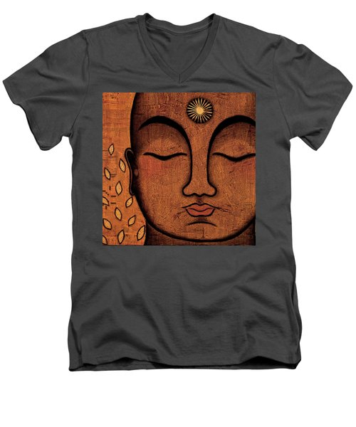 Men's V-Neck T-Shirt featuring the painting He Knows by Gloria Rothrock