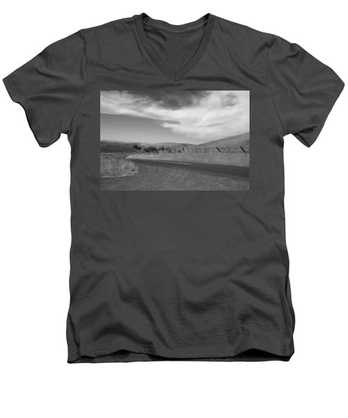 Men's V-Neck T-Shirt featuring the photograph Heading Inland by Kathleen Grace