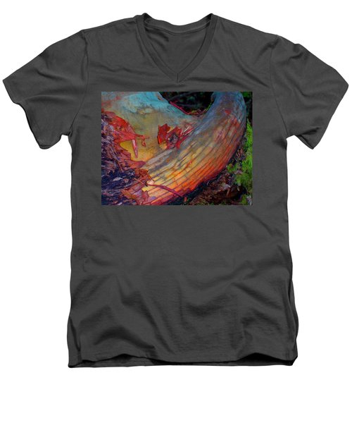 Men's V-Neck T-Shirt featuring the digital art Here And Now by Richard Laeton