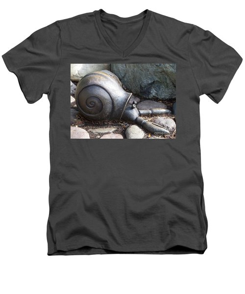 Men's V-Neck T-Shirt featuring the photograph Hermit Crab by Chalet Roome-Rigdon