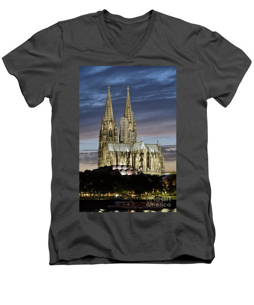 High Cathedral Of Sts. Peter And Mary In Cologne Men's V-Neck T-Shirt