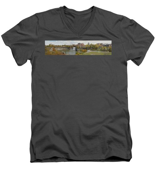 High Falls Panorama Men's V-Neck T-Shirt