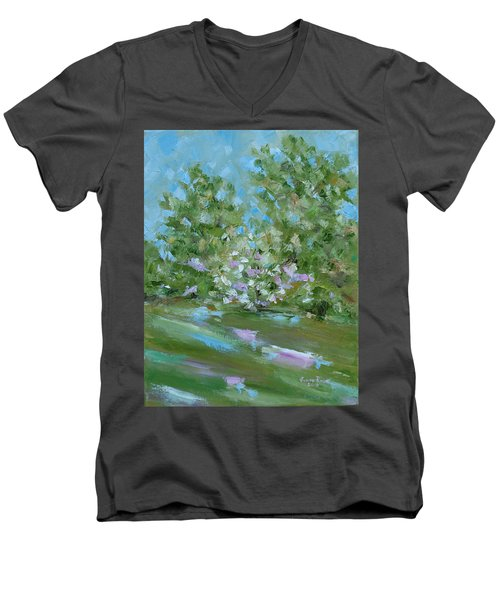 Hilltop Men's V-Neck T-Shirt by Judith Rhue