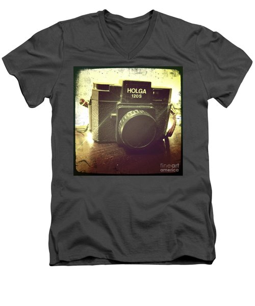 Men's V-Neck T-Shirt featuring the photograph Holga by Nina Prommer