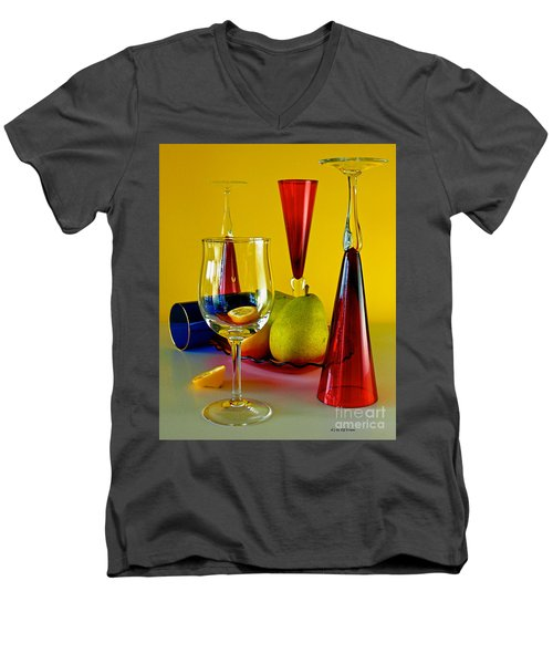 Men's V-Neck T-Shirt featuring the photograph Honor To  Mondrian  by Elf Evans