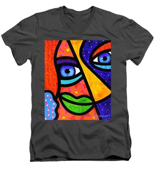 How Do I Look Men's V-Neck T-Shirt