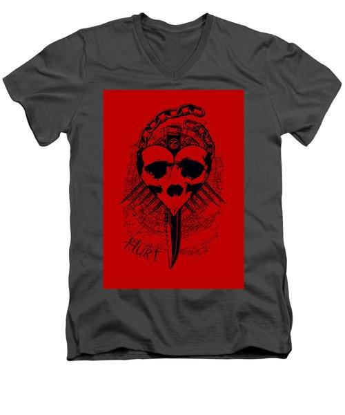 Hurt Men's V-Neck T-Shirt by Tony Koehl