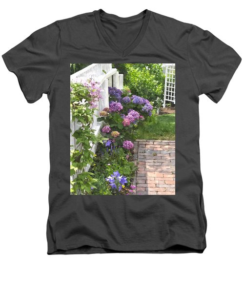 Hydrangeas  Hwc Men's V-Neck T-Shirt