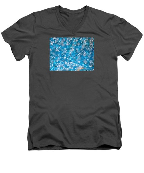 Men's V-Neck T-Shirt featuring the photograph Ice Blues by Beth Saffer