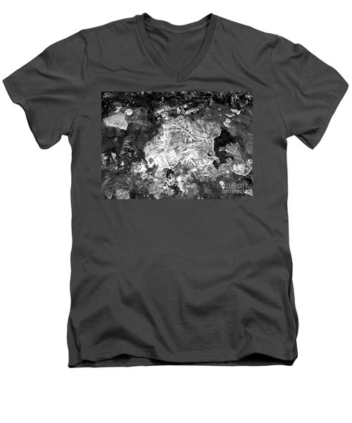 Men's V-Neck T-Shirt featuring the photograph Icy Road by Chalet Roome-Rigdon