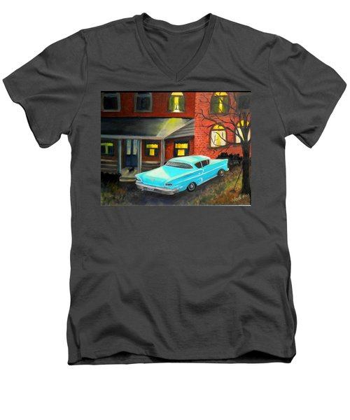 In For The Night Men's V-Neck T-Shirt by Renate Nadi Wesley