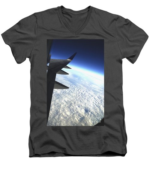 in Orbit Men's V-Neck T-Shirt by Micah May