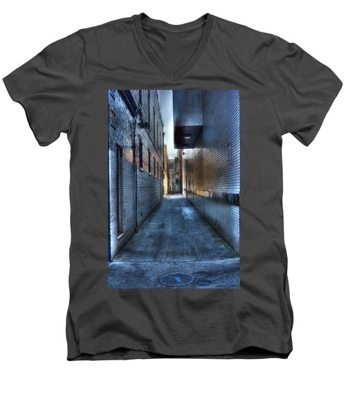 In The Alley Men's V-Neck T-Shirt by Dan Stone