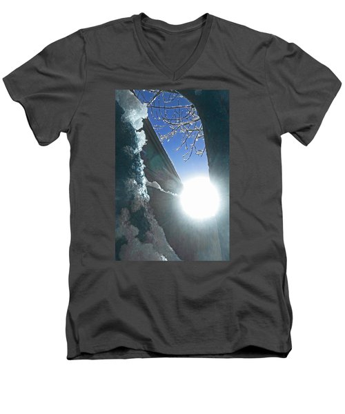 Men's V-Neck T-Shirt featuring the photograph In The Cold Of The Sun by Steve Taylor