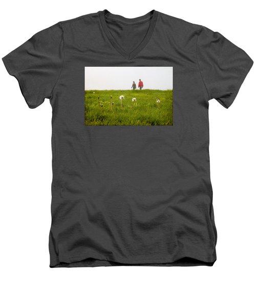 In The Mist Men's V-Neck T-Shirt by Milena Ilieva