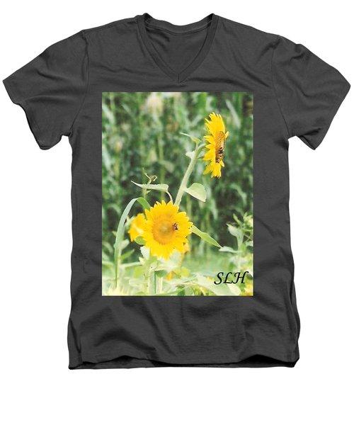 Insect On Sunflowers Men's V-Neck T-Shirt