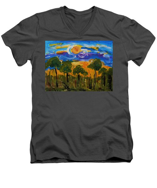 Intense Sky And Landscape Men's V-Neck T-Shirt