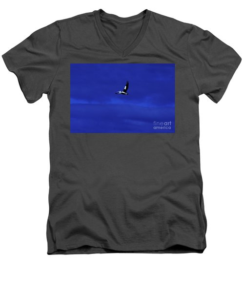 Men's V-Neck T-Shirt featuring the photograph Into The Blue by Blair Stuart