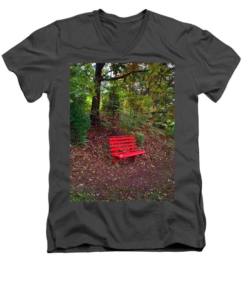Men's V-Neck T-Shirt featuring the photograph Inviting by Janice Spivey
