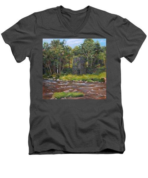 Iron Furnace Of Franconia New Hampshire Men's V-Neck T-Shirt
