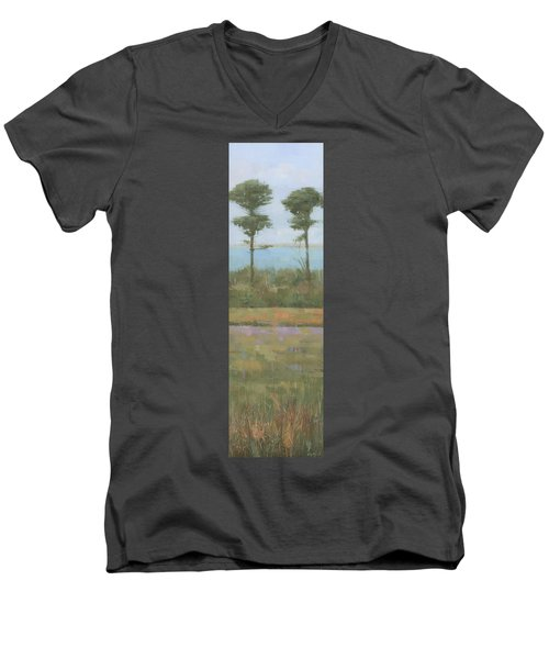 Island Twins Men's V-Neck T-Shirt by Steve Mitchell