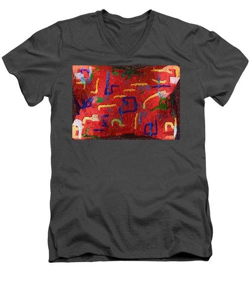 Italian Pillow Men's V-Neck T-Shirt by Alec Drake