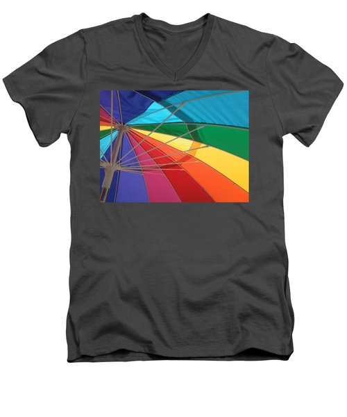 Men's V-Neck T-Shirt featuring the photograph It's A Rainbow by David Pantuso