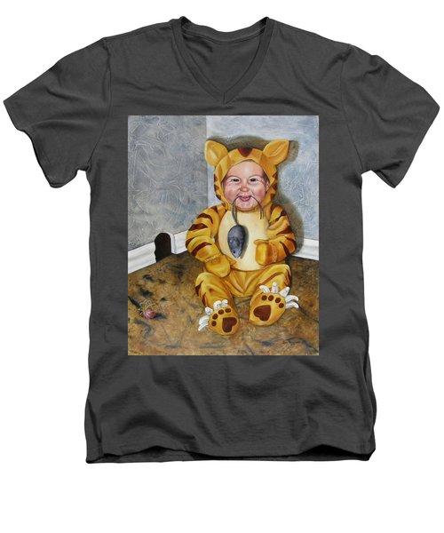 James-a-cat Men's V-Neck T-Shirt