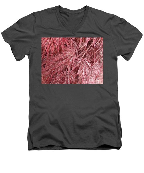 Men's V-Neck T-Shirt featuring the photograph Japanese Maple by Laurel Best